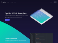 Opalin HTML Template - Preview