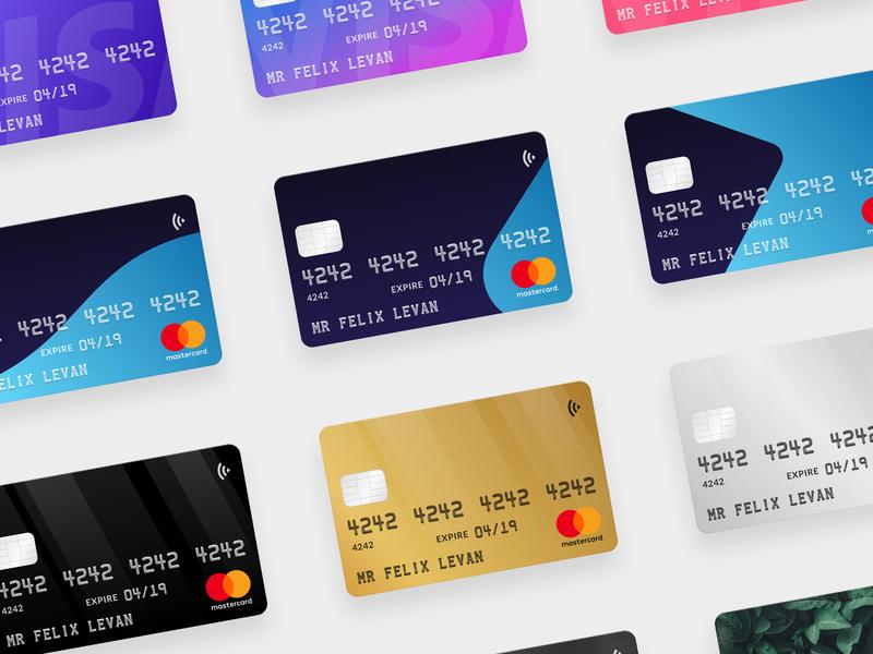 Credit Card Mockups finance illustration figma sketchapp debit card credit card checkout
