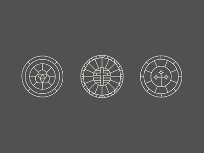 Church Logo Symbols illustration icon lines web ministry sermon reformed christian trinity cross badge history religious pray church jesus branding brand logo