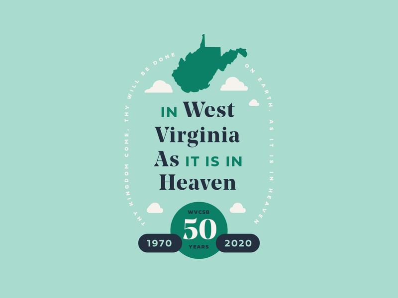 WVCSB Logo vector brand identity flyer invitation formal 50 state typography type creative direction art direction badge illustration anniversary west virginia branding logo brand