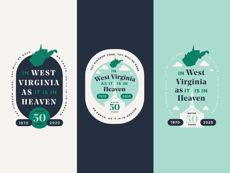 WVCSB Branding state vector fundraiser event illustration typography graphic ministry church flyer invitation print anniversary art direction creative direction branding badge brand logo