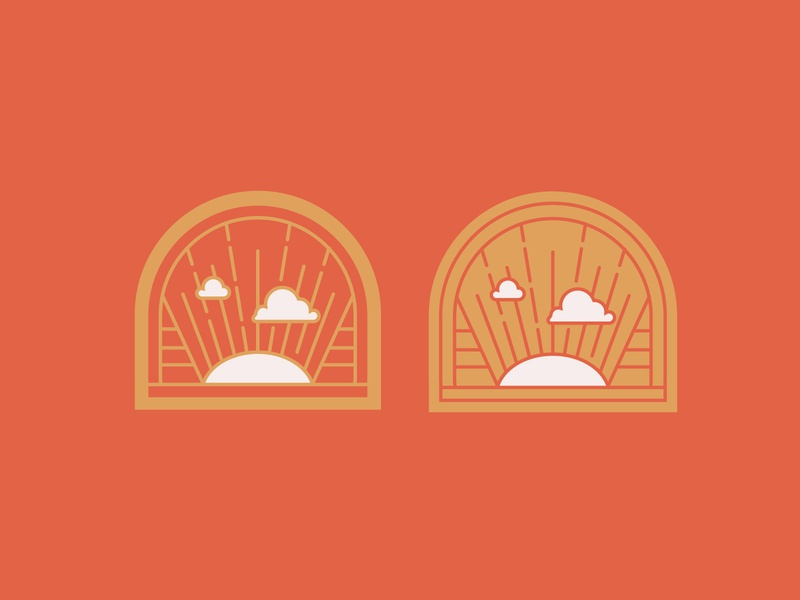 Resurrection Sunday Badges simple trinity crest vector ministry branding church sermon series jesus easter sky clouds sun lines sunrise illustration badge brand logo