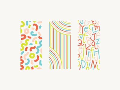 Whimsical Pattern Series children girl teens youth modern alphabet lines illustration surface pattern scandi nordic nursery baby girls feminine childrens kids brand branding pattern
