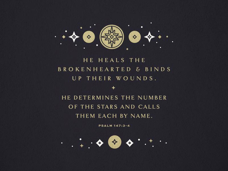 Stars nativity star gold lines reformed easter trinity bible graphic psalms space stars christian branding brand logo church