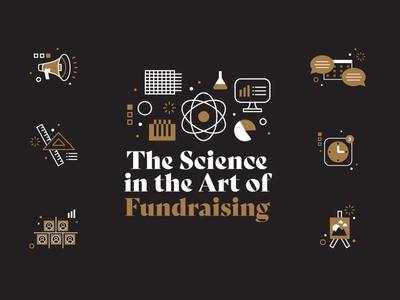 Fundraising Ebook chat chart graphic graph fundraiser cover book ebook logo branding brand stragegy measure painting clock scientist chemistry icons science fundraising