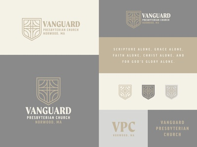 Vanguard Pres Brand Design illustrate web christmas design easter trinity christian jesus crest shield cross badge illustration formal non profit ministry church branding brand logo