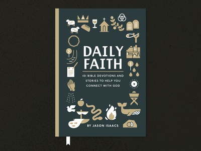 Daily Faith Book Cover Draft advent city crown cross plants trinity church snake illustration print startup ministry branding brand christian devotions faith book cover cover book
