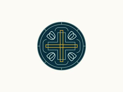Grace Church Amsterdam Logo crest icon ministry city historic christian illustration branding brand vector lines badge tulips windmill cross church logo amsterdam