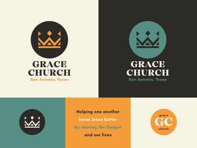 GCSA Branding monoline typography print website trinity easter illustration badge jesus gospel alabama texas crown restaurant coffee ministry church branding brand logo