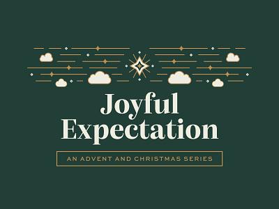 Joyful Expectation monoline illustration print ministry old testament jesus clouds joy easter christmas advent star badge graphic series sermon church branding brand logo