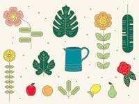 Spring Illustration Elements