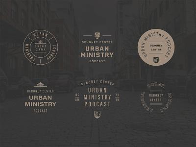 DCUM Podcast Logo + Branding edgy vector design web illustration monoline badge revitalization missions urban ministry urban city type print seminary church christian ministry brand logo