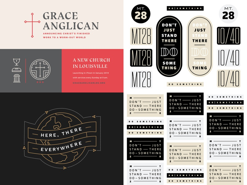 2018 Top Shots cross global globe edgy identity scripture icons monoline lines slogan church logo sticker badge type church world graphic web branding brand