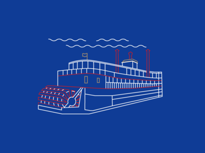 Belle of Louisville Illustration
