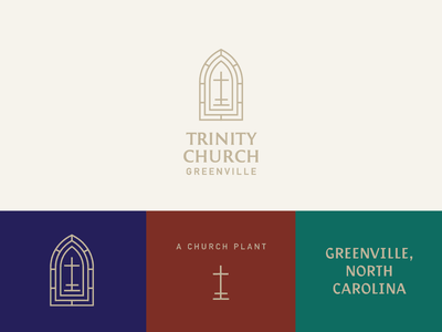 Trinity Draft 01 jesus church plant stained glass cross christian logo christian reformed ministry brand ministry logo ministry brand identity identity church badge gold lines church brand church logo branding brand
