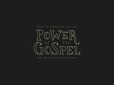 Power badge jesus bible church triangular geometric traingle lines serif reformed christian lord power gospel typography branding brand type design type logo