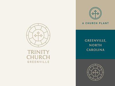 Trinity Logo and Branding logo design reformed jesus missions gospel chrisitan ministry glass cross church brand church logo church identity brand assets trinity symbol logo mark logo branding brand