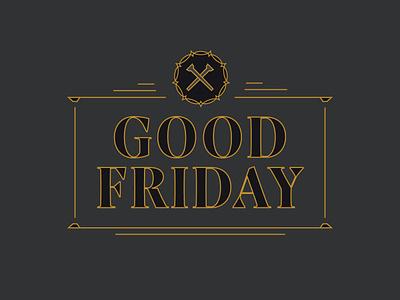 Good Friday Graphic believer ministry typography monoline lines type cross scripture bible lent good friday easter sermon series sermon church branding brand jesus christian logo