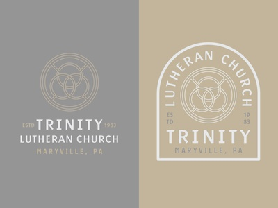 Trinity Lutheran Church Logo religious cross easter jesus missions ministry graphic christian illustration badge bible sermon branding brand logo church baptist methodist reformed lutheran