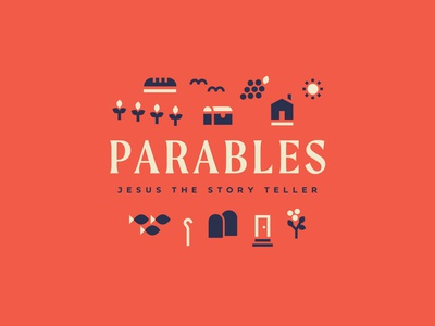 Parables graphic church type branding illustration badge ministry missions foliage farm geometric vector sermon parables jesus bible brand logo