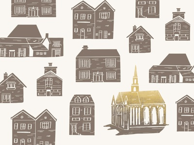 Church in the City illustrate graphic sermon buildings missions christian jesus ministry branding brand procreate editorial illustration pattern city church