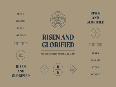 Risen and Glorified Branding