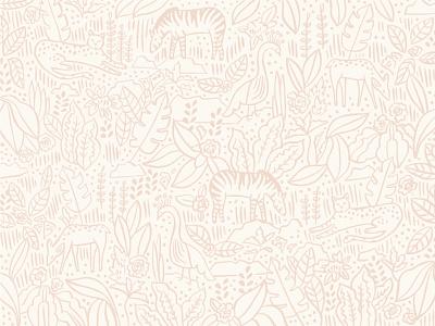 Nursery Print pattern surface pattern print zebra illustrator procreate branding brand logo floral feminine baby nursery garden plants plant deer leopard jungle illustration