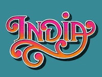 India lettering