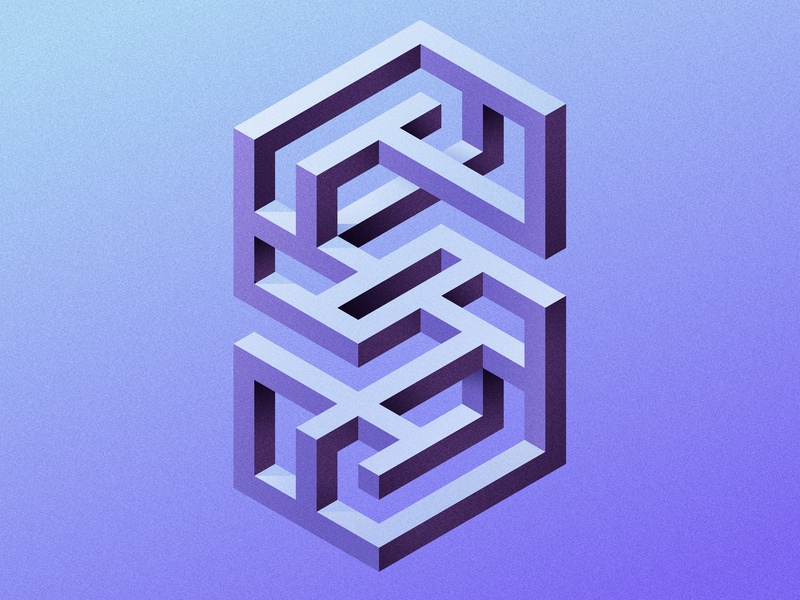 S – 36 Days Of Type impossible shape maze puzzle s vector lettering type custom lettering hand lettering lettering art lettering design type design typophile typogaphy apple pencil ipad pro procreate letter letterform letterforms