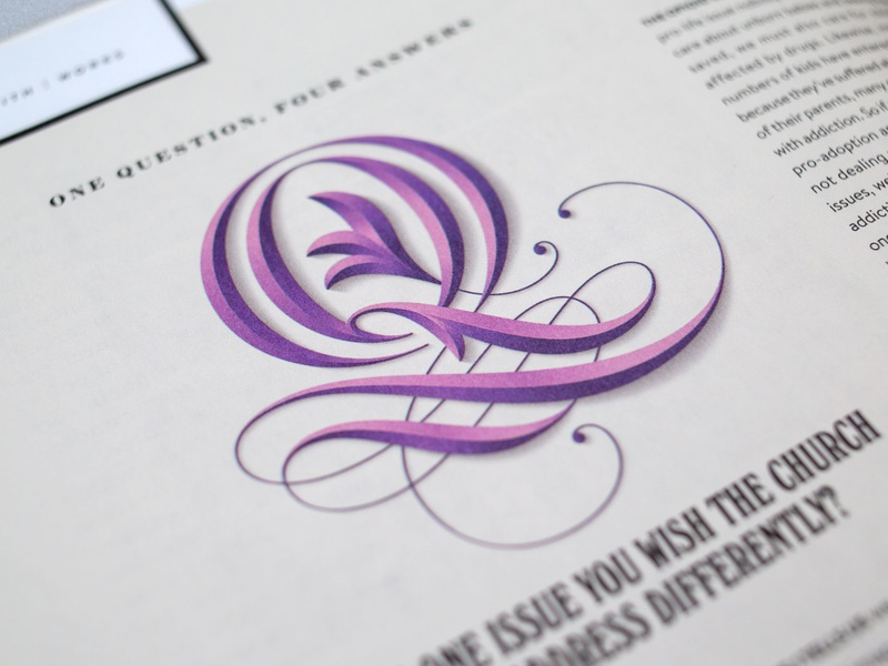 In Touch Magazine - 'Q' lettering custom lettering hand lettering vector type lettering art lettering design type design typophile typogaphy apple pencil ipad pro procreate letter letterform letterforms