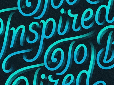 Too Inspired To Be Tired (v2) vector lettering type custom lettering hand lettering lettering art lettering design type design typophile illustration typogaphy apple pencil ipad pro procreate letterforms procreate app inspiration