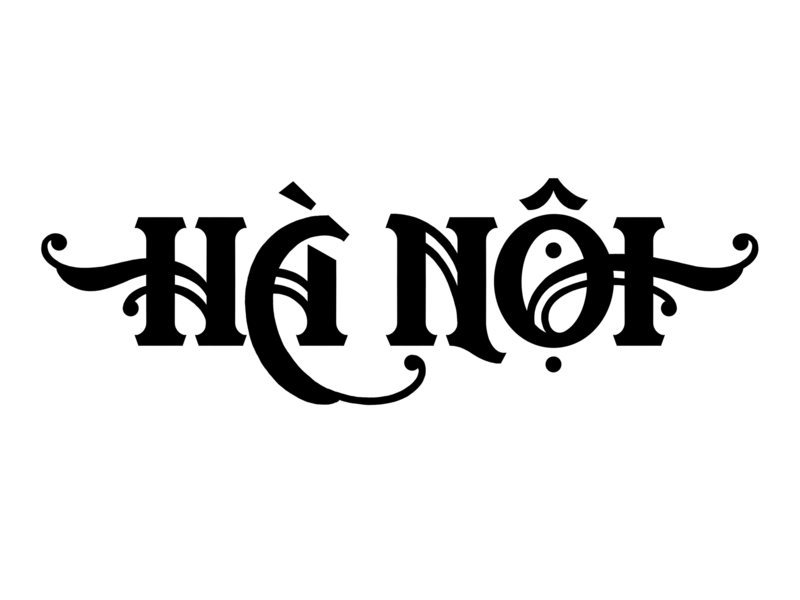 Hà Nội - Lettering 1 design travel procreate app typophile lettering art apple pencil typogaphy ipad pro type design type hand lettering custom lettering lettering eastern vietnam