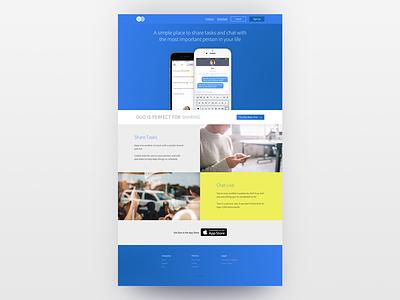 Landing Page for App bourbon haml css html sass gradients web development web ui web design