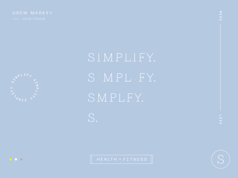 Simplify branding fitness health icon typography custom wordmark logo identity branding