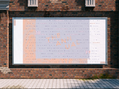 The Annual billboard wheatpaste numbers poster ad billboard identity layout branding logo typography