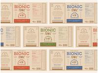 Health drink labels logo identity branding typography vintage packaging labels drink health