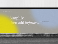 Simplify billboard typography identity branding logo marketing wellness health quote modern ad wheatpaste poster billboard