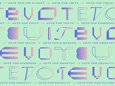 Vote! modern gradient animation typography biden president election vote