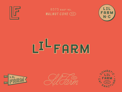 Lil Farm branding rustic typography script custom lettering wordmark heritage vintage monogram icon identity branding logo farm