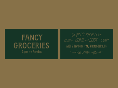 Fancy Groceries branding boutique clothing shop menswear design icon layout identity branding logo typography
