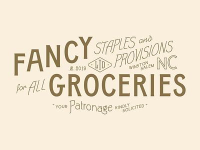 Fancy Groceries branding boutique shops clothing menswear flag design modern layout identity branding logo typography