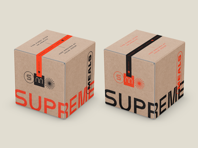 Meal kit shipper box cardboard kraft shipping box shipper packaging box delivery meal food health modern layout identity branding logo typography