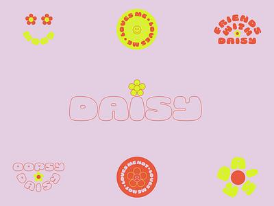 Daisy branding social media flower vintage wordmark daisy icon modern identity branding logo typography