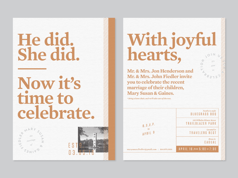 Wedding party invite stationery card typography marriage invitation invite party wedding