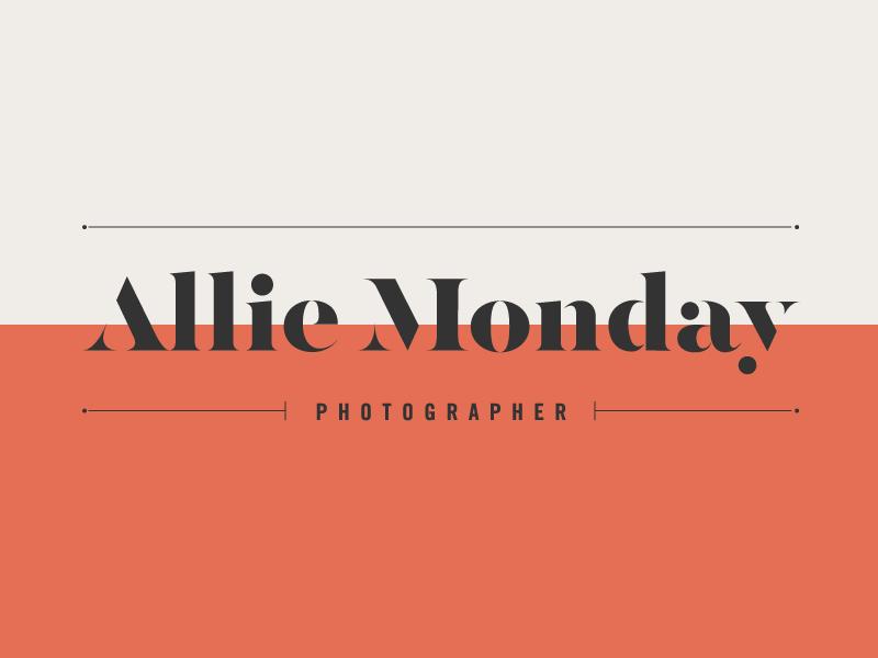 Custom wordmark stencil photographer photography typography type wordmark logotype logo branding