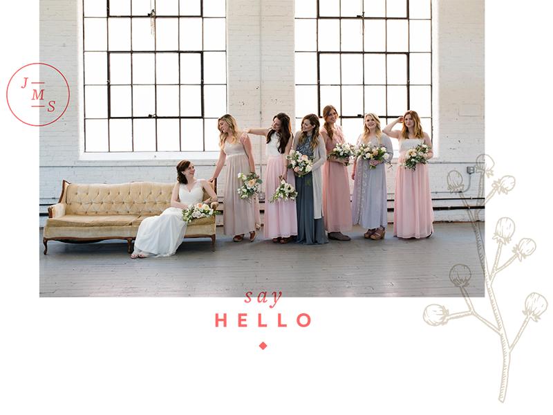 Website contact page wedding overprint logo flower monogram illustration photographer layout website