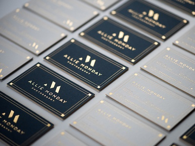 Gold foil business cards by Rebekah Rhoden Dribbble