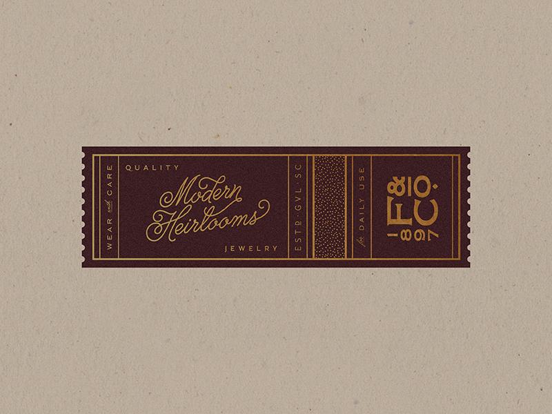 Foil closure seals branding logo gold packaging tag label seal foil