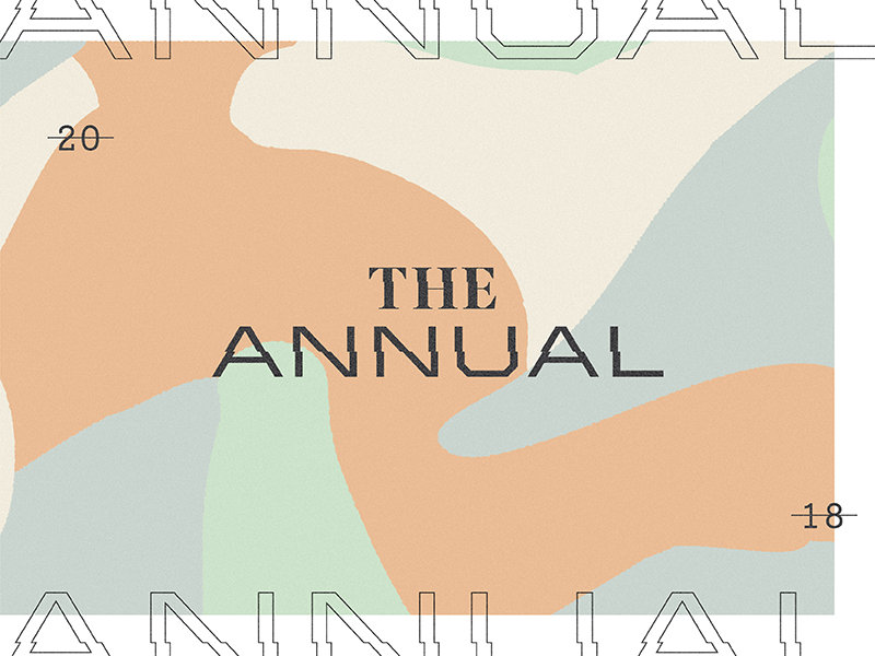 The Annual 01 2018 pattern custom typography branding wordmark logo