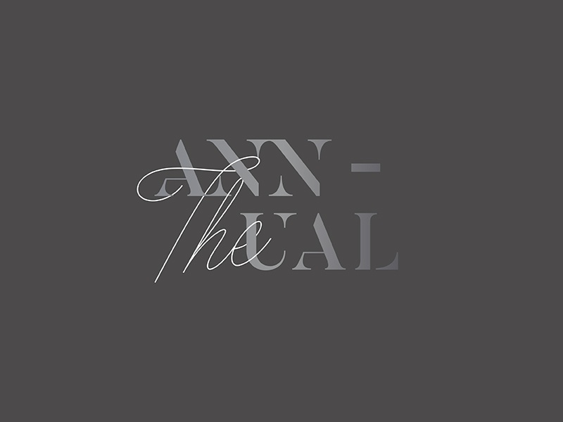 The Annual 02 stencil lettering typography branding logo